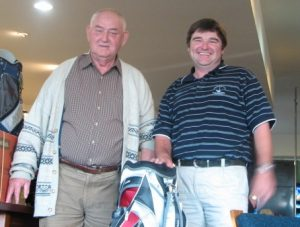President Peter Jackson-Calway with Leura Open Winner Col Stockley